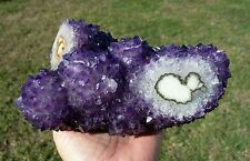 Uruguay AMETHYST Stalactite Flower Crystal Points Branch Cluster Natural Heart