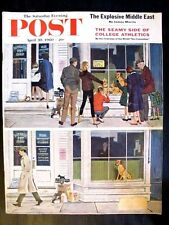 Saturday Evening Post Magazine April 30, 1960 Puppies for Sale by George Hug !