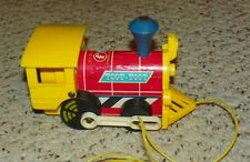 Vintage 1964 - Fisher Price 643 Toot Toot Train / Engine - Wooden Wheels