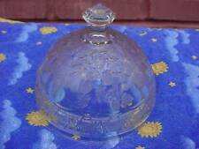 Antique Indiana Glass EAPG Bird and Strawberry Butter Dish Lid-Strawberries