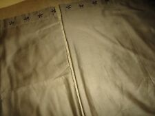 IKEA TANJA BRODYR (PAIR) STANDARD PILLOW SHAMS CAFE BROWN EMBROIDERED 20 X 30