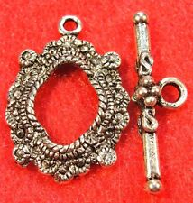 10Sets Beautiful Tibetan Silver Toggle Clasps Connectors Hooks Findings C326