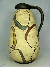 "Typical 50´s design SAWA pottery vase  # Keramik Vase "" Torino "" 319 /30  31,4cm"