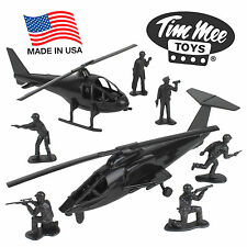 TimMee Processed Plastic BLACK HELICOPTERS: Tim Mee SWAT Army Men Police Figures