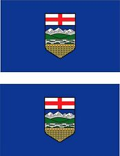Set of 2x sticker vinyl car bumper decal outdoor car moto flag alberta canada