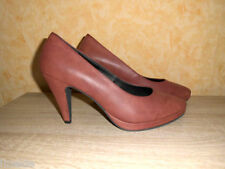 High Heel Plateau Pumps NEU Gr. 42 in rostrot & Nappaleder super bequem