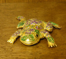 Victorian Treasures #A215-3 FROG LAYING violet flowers, NEW from Retail Shop