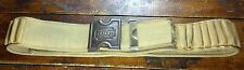 San Quentin Prison Death Row Guard Woven Cotton Belt Brass Belt Buckle & Catch