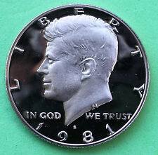 1981 S Proof Kennedy Half Dollar Coin 50 Cent JFK from US Mint Proof Set
