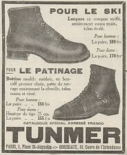 Z8656 TUNMER pour le Ski et le Patinage - Pubblicità d'epoca - 1926 Old advert