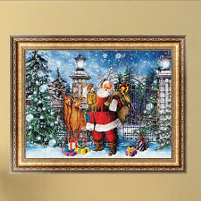 5D diamant peinture Neige Noël Santa Claus Cross Stitch Kit Home Decor mur
