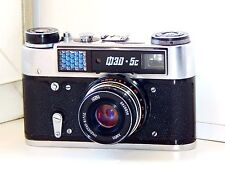 RARE BLACK FED-5C Soviet Copy Leica Rangefinder Film Camera w/s lens industar 61
