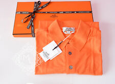 NEW HERMES 40% OFF MENS SPORTS ORANGE POLO SHIRT L LARGE SWEATER TOP JACKET