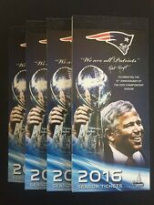 2 of 4 TICKETS Patriots vs. Steelers AFC Championship 1/22 AISLE SEATS Free Ship