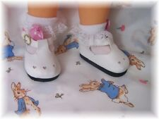 Reborn Doll Mary Jane  Doll Shoes  White 82mm