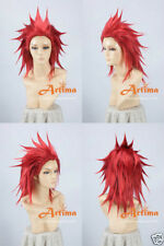 Kindomhearts Axel Red Anime Cosplay Costume Wig Free Ship +Wig CAP