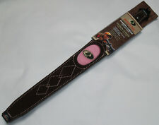 Mossy Oak Lady Rifle Sling - Genuine Leather - Pink Sling - Quick Detach Swivels