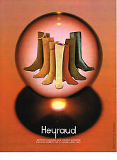PUBLICITE  1971   HEYRAUD  chaussures  collection  L   BOTTES