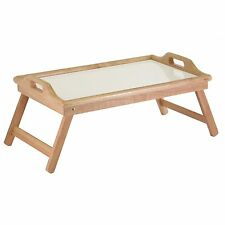 Winsome Wood Breakfast Bed Tray with Handle Foldable Legs, New, Free Shipping