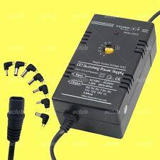 Multi-Voltage 5V-6V-7.5V-9V-11V-12V-15V Regulated AC/DC Switching Power Supply