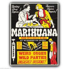 "Letrero de metal placa de pared marihuana Marihuana anti drogas Retro cartel impresión 8""x6"""