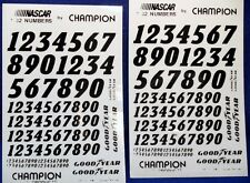 SET OF TWO NASCAR VINAL NUMBERS FOR 1/32ND SCALE SLOT CARS-NEW-1990'S