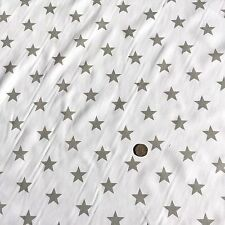 LARGE STARS POLYCOTTON FABRIC RED BLUE LIME ORANGE PINK GREY PURPLE GOLD CERISE
