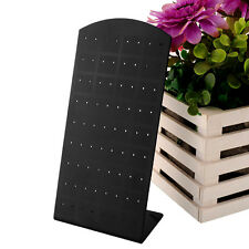 72 Holes Earrings Jewelry Show Black Plastic Display Rack Stand Holder