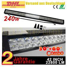 """42"""" 240W LED Arbeitsscheinwerfer Ford Bagger UTV ATV Kfz LKW SUV Jeep light bar"""