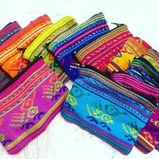 Coin Purse Pouch Woven Cotton Card Holder Wholesale Of 24 New Fair Trade Ethnic