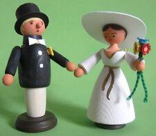 Hochzeit Brautpaar Figur Erzgebirge