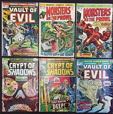 Marvel mixed horror Comic Books (Lot of 6) Vintage 1972-1974