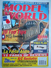RC Model World - Radio Controlled Aircraft - Nov 1999 Complete with Unused Plan