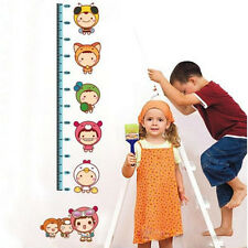 Little People Kids Height Measure Wall Stickers Boy Girl Growth Chart