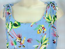 Disney Store Hawaiian Dress 2XL Mickey Minnie Mouse Hula Aloha Vacation Sundress