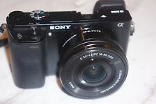 Sony Alpha a6000 24.3MP Digital Camera - Black w/ E PZ OSS 16-50mm Lens