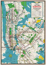 New York City Subways Map  Poster Cavallini & Co 20 x 28 Wrap