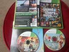 GRAND THEFT AUTO 5 V. XBOX 360 GAME + MANUAL & MAP. 2 DISCS
