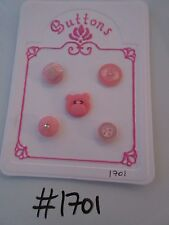 #1701 Lot of 5 Pink Buttons