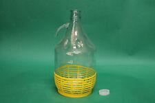 Dama in vetro rivestita con tappo litri 5 Damigiana
