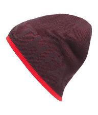 THE North Face Tnf Nastro di TELESCRIVENTE Reversibile Cappello Beanie Sci Neve Cap radice Marrone Rosso