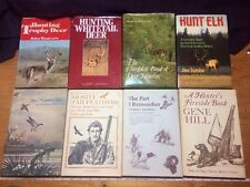 8pc Winchester Press Vintage HC Books Hunting Wildlife Elk Whitetail Signed