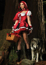 Little Red Riding Hood Costume, Womens Fancy Dress, size Sml (AU 6-10)