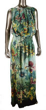 NWT Ted Baker London Gathered Neck Orchideen 100% Silk Maxi Dress UK 2 US 6 $468