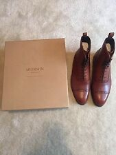 MEERMIN Mallorca Men's Goodyear welted Cap toe Brown Balmoral Boots 7.5UK 8.5US