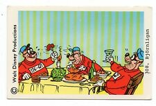 1970s Sweden Swedish Walt Disney Card - The Beagle Boys eating and drinking