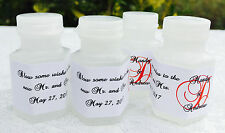120 Personalized Monogram MINI BUBBLE labels/stickers for WEDDING PARTY FAVORS