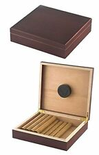 "NEW ""THE CHATEAU"" 20 COUNT CIGAR DESKTOP HUMIDOR BOX - CHERRY"