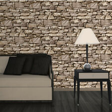 Dry Stone Wall Sand Wallpaper 3D Effect Design by Muriva J49407