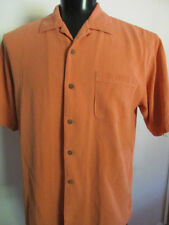 Men's Tommy Bahama Large  S/S shirt 100% Silk Salmon